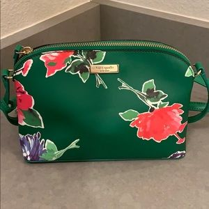 NWOT Kate Spade Green Floral Cross Body Purse